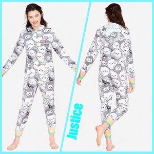 Justice Sleep Pajamas One Piece Sheep Onesie NWT